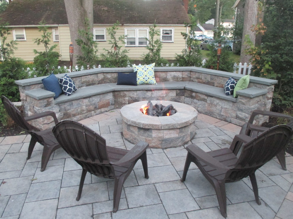 seat wall and fire pit glen rock nj