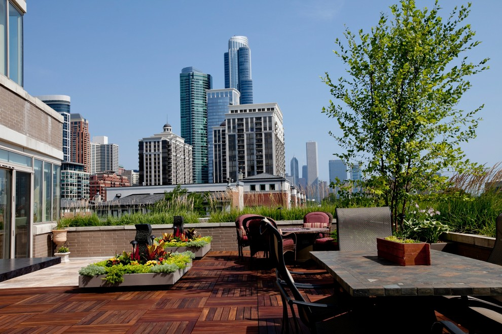 South Loop Lakefront project - Traditional - Patio ... on Lakefront Patio Ideas id=55573
