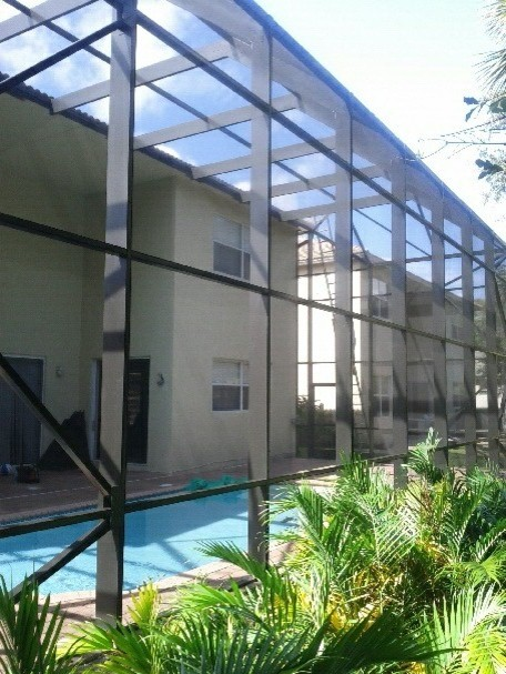 2 story screen pool enclosure west palm