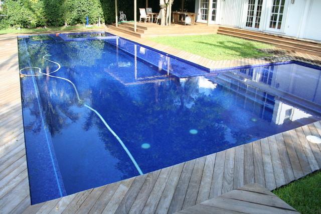 glass tile pools modern pool