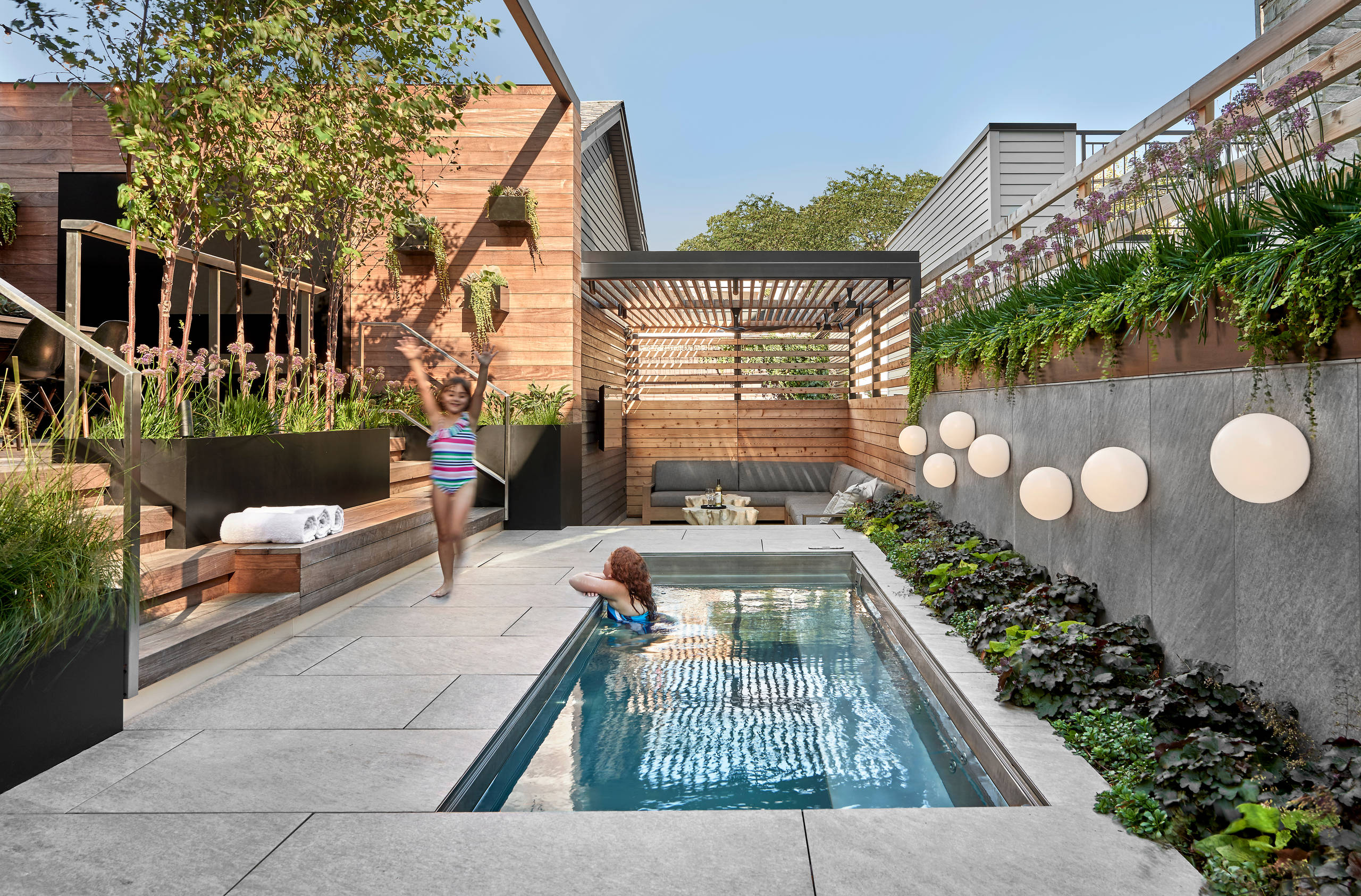 75 beautiful tile pool pictures ideas
