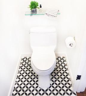 wc et toilettes avec des carreaux