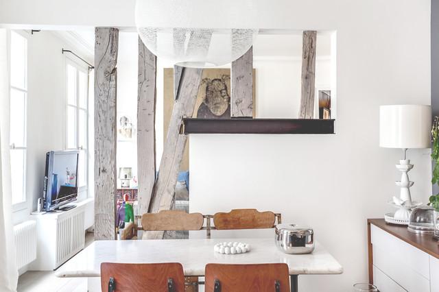 Consigli colori della cuina/soggiorno ambiente unico con isola e arredo moderno. 9 Soluzioni Originali Per Separare La Cucina Dal Soggiorno