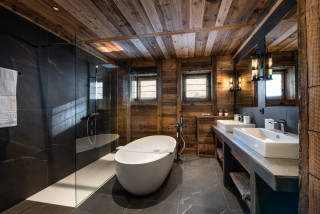 salle de bain montagne photos et