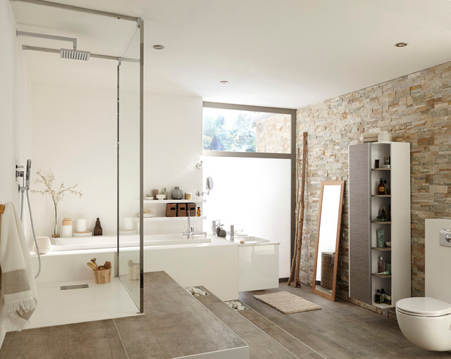 Salle De Bains Contemporary Bathroom Lille By Leroy Merlin Officiel