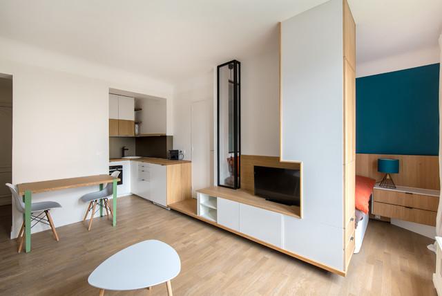 salon meuble sur mesure contemporain