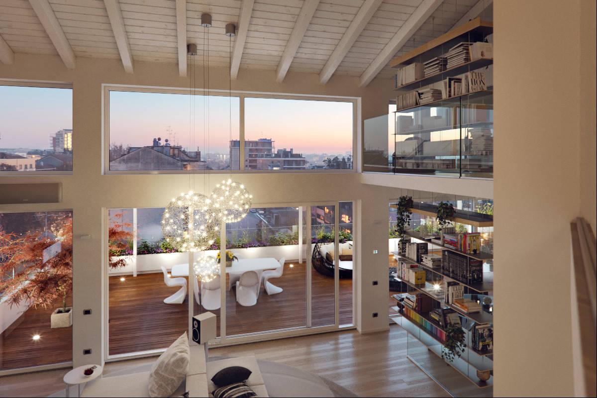 Interior designer a milano, lombardia: Un Attico In Stile Loft In Milano Contemporary Living Room Milan By Annalisa Carli Architetto Houzz