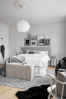 chambre grise et blanche photos et