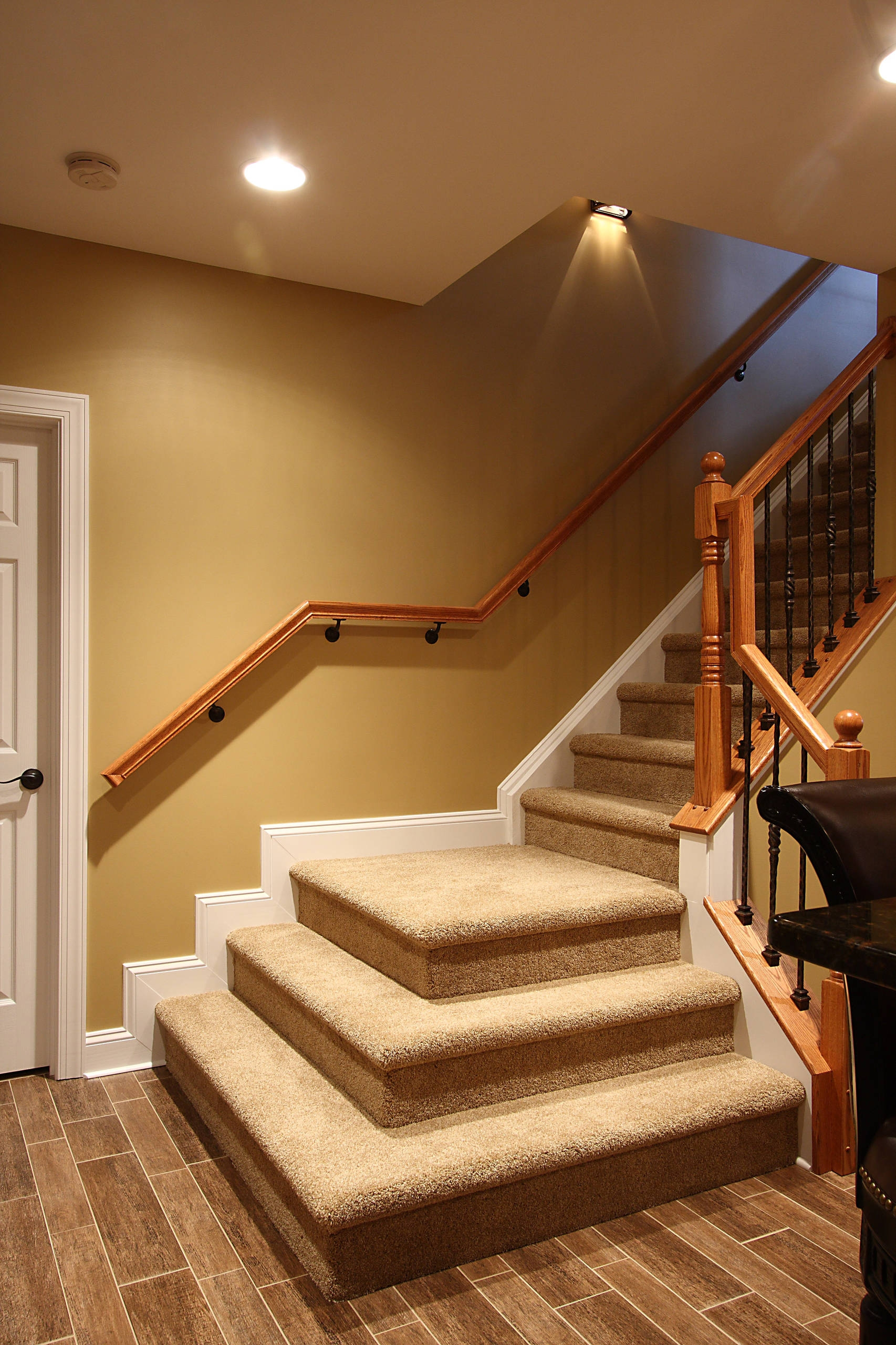 Basement Stairs Houzz   Spiral Staircase Into Basement   Stair Railing   Attic Stairs   Stair Treads   Stairway   Staircase Ideas