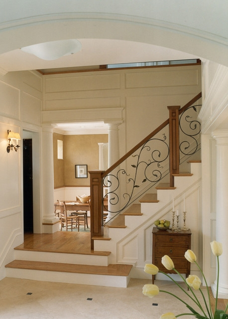 Carriage House Traditional Staircase Boston By Sv Design | Traditional Staircase Designs For Homes | Antique | Nice | Low Cost | Entryway | Wonderful