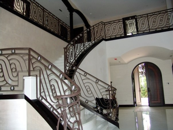 Contemporary Stair Railings Contemporary Staircase Miami | Modern Iron Stair Railing | Handrail | Before And After | Glass | Ornamental | Elegant