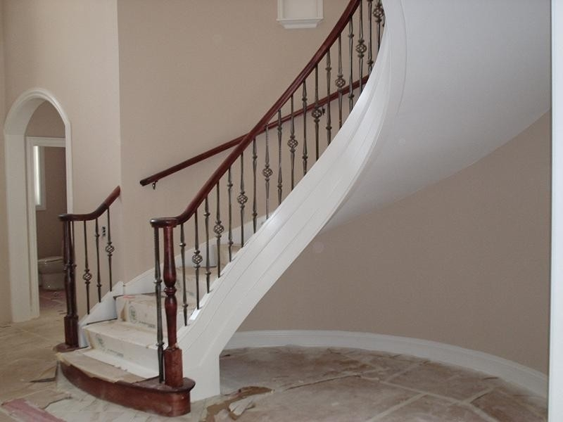 Curved Stairs With Metal Pickets Staircase London By Roes   Building A Curved Staircase   Indoor   36 Inch Diameter   Garage   Circular   Outside