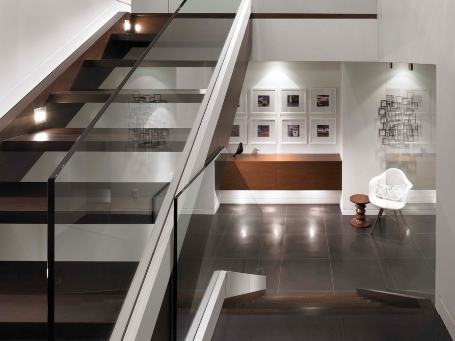Glass Railing Stair Case Modern Staircase Vancouver By My   Glass Handrails For Stairs   Balustrading   Custom Glass   External   Frameless   Fully Glass