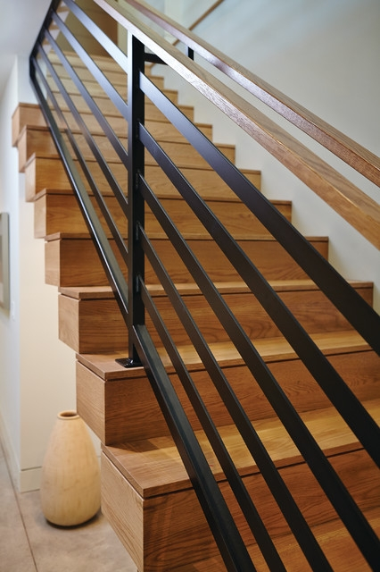 Mid Century Modern Midcentury Staircase Grand Rapids By | Mid Century Modern Stair Handrail | Vertical | Decorative | Fixer Up | Living Room | Contemporary Curved Staircase