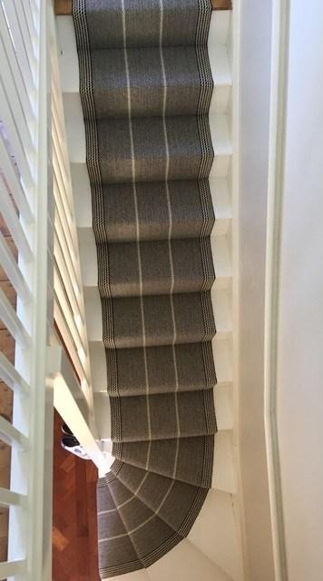 Roger Oates Swanson Light Grey Stair Runner Carpet In Victorian | Light Grey Carpet Stairs | Industrial | Runner | Modern | Grey Vinyl Flooring | Living Room