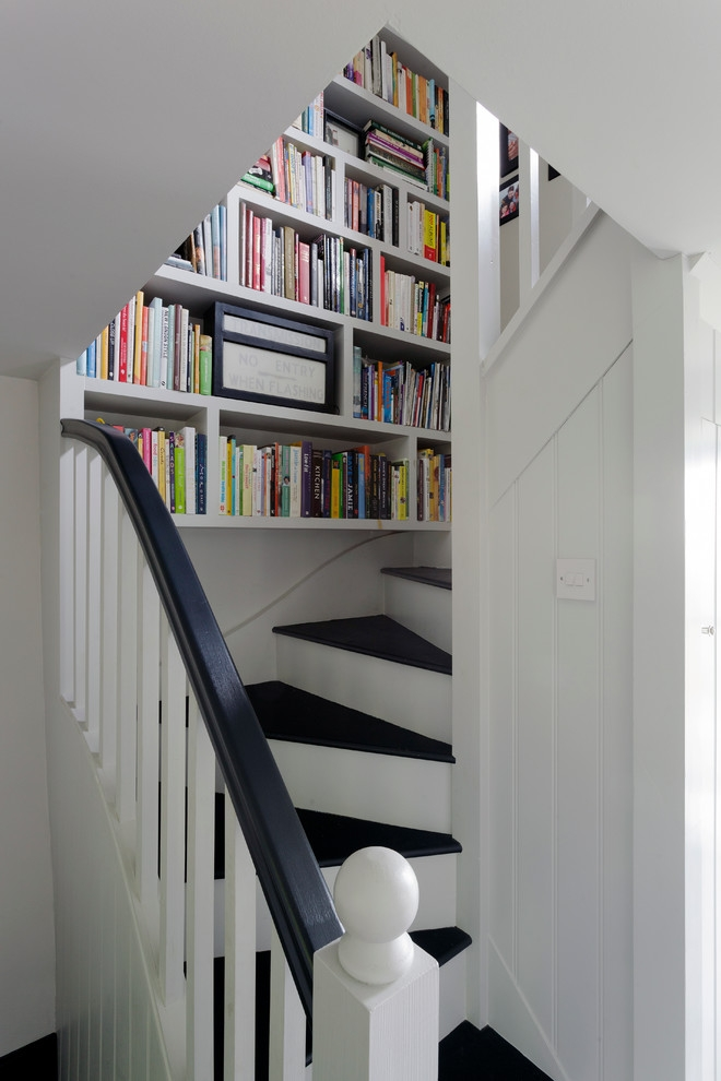 Somerset Cottage Farmhouse Staircase Cornwall By Nicola O | Staircases For Small Cottages | Open | Small Footprint | Skinny | Corner | Wooden