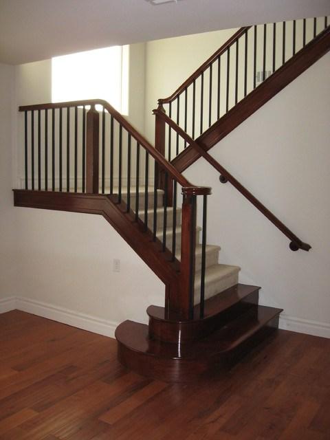 Wood And Iron Railings American Traditional Staircase Las | Iron And Wood Railing | Rod Iron | Interior | Deck | Custom | Horizontal
