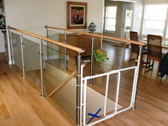 Wood Stairs And Stainless Steel Glass Railings Contemporary   Wood And Glass Staircase Railing   Tempered Glass   Glass Style Kerala   Rustic Glass Interior   Architectural Modern Wood Stair   Interior