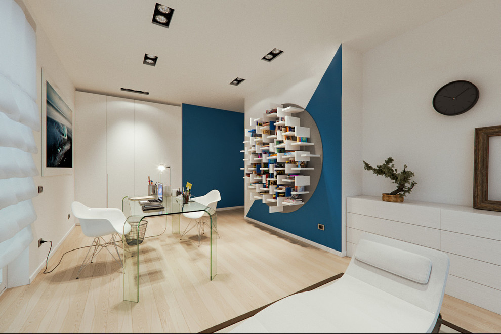 Designed for an entrepreneur couple who wanted their home to reflect their love of art, this penthouse apartment in the lombardy plains offers a spectacular. Un Attico In Stile Loft In Milano Contemporary Home Office Milan By Annalisa Carli Architetto Houzz
