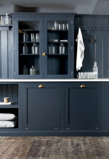 The Pantry Blue Utility Room By Devol Rustic Laundry Room Other By Devol Kitchens