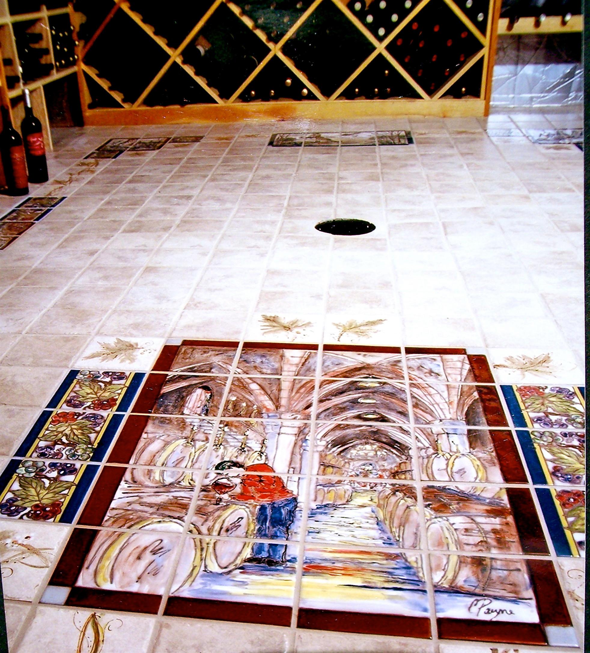 hand painted tile murals houzz