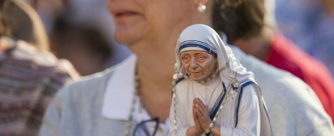 Risultati immagini per papa francesco santifica teresa