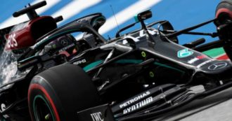 Mercedes 2020 in black livery, throughout the Formula 1 season the Silver Arrows change color to fight racism