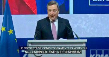 """Coronavirus, Draghi: """"Siamo ancora lontani dalla fine, c'è il rischio di nuove varianti"""" – Video"""