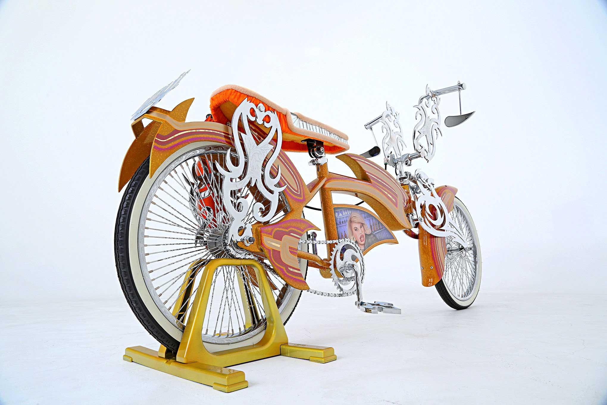 Bike Frame Orange Gold Candy And