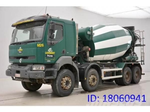 Used Renault Kerax 420 DCi - 8x4 concrete trucks Year ...