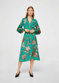 Bow floral dress | MANGO