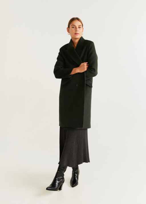 Structured wool coat - General plane