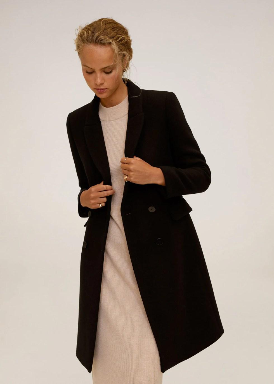 Abrigo lana doble botonadura - Plano medio