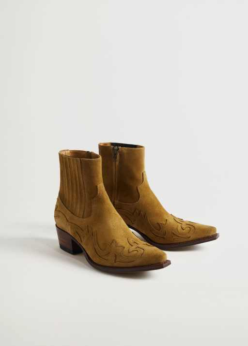 Goodyear welted leather boots - Medium plane
