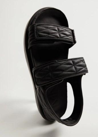 Quilted strap sandals - Medium plane