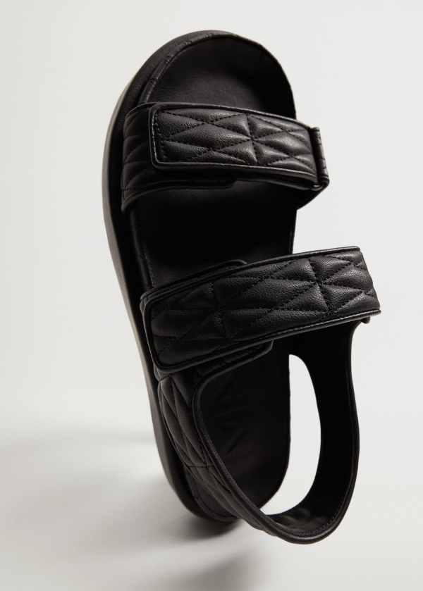 Quilted strap sandals - Mango
