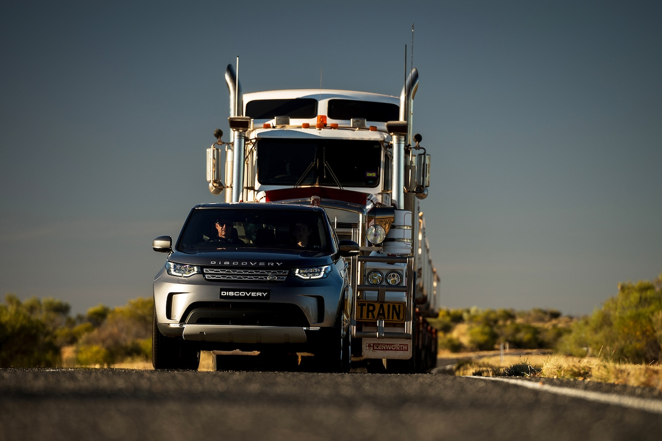 Mileti Industries Land Rover Discovery Tows 121 Ton Road Train