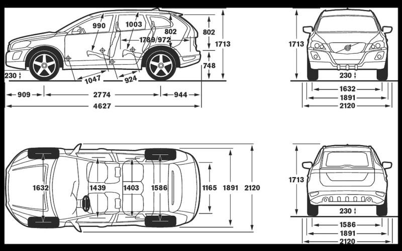interior dimensions volvo xc60