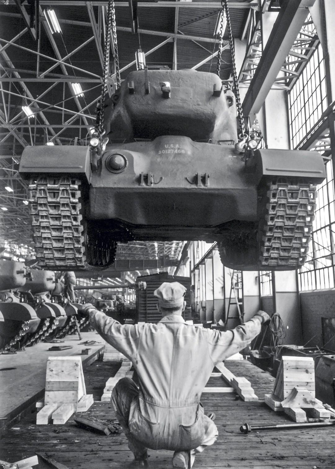 M-24-Tank-at-Cadillac-plant