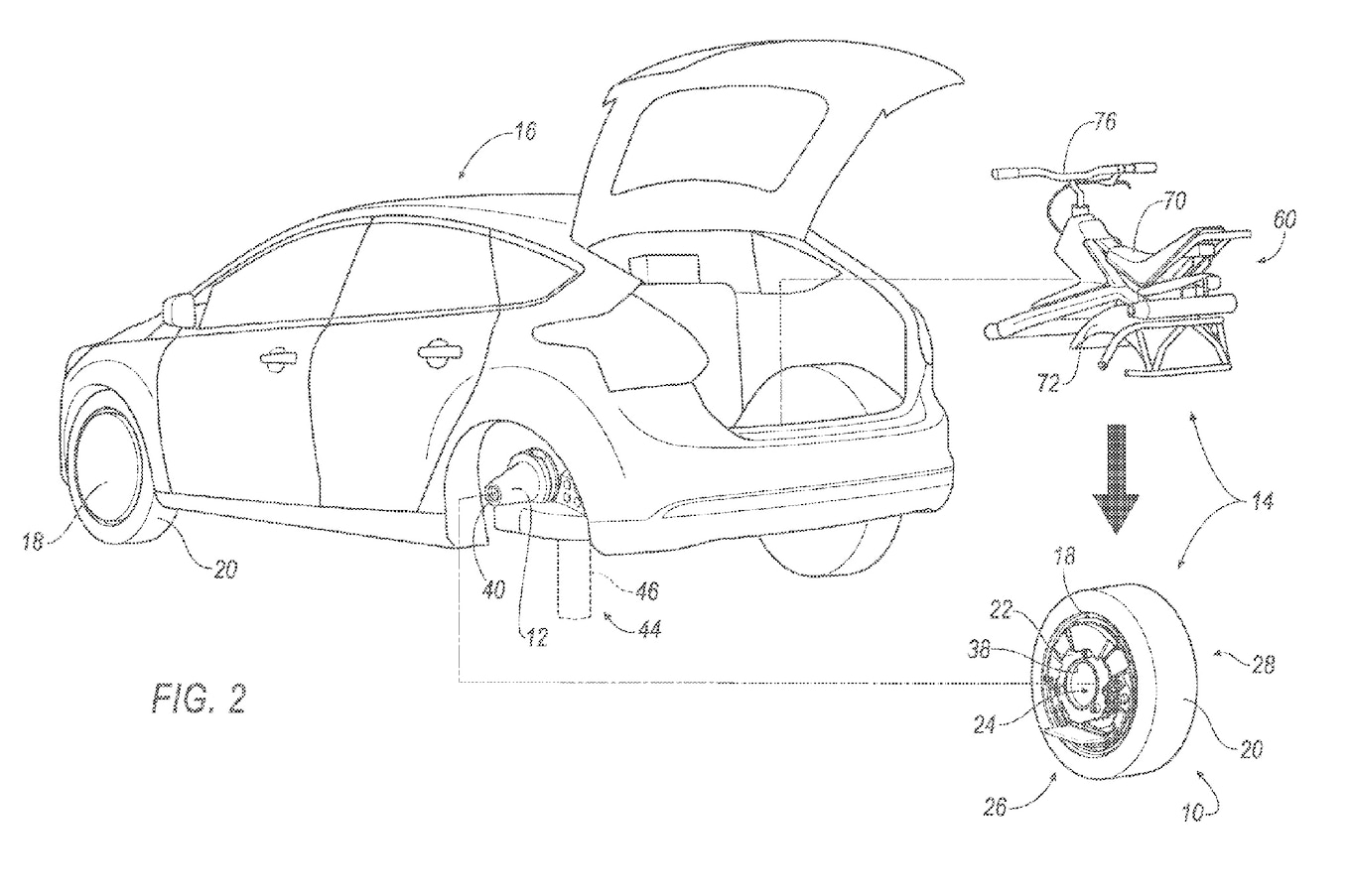 Ford Patents Rear Wheel That Can Double As A Unicycle