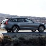 2017 Volvo V90 Cross Country rear three quarter in motion 02