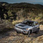 2017 Jeep Compass Trailhawk front three quarter