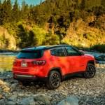 2017 Jeep Compass Trailhawk rear three quarters 02