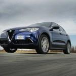 2018 Alfa Romeo Stelvio Q4 front three quarter in motion 02 1