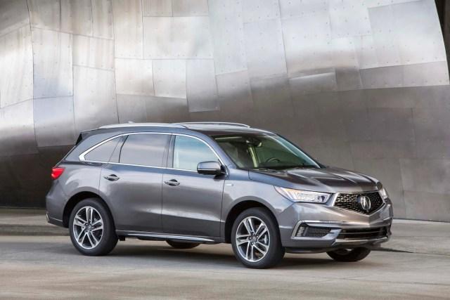 2017 Acura MDX Hybrid front three quarter