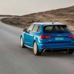 2017 Audi RS 3 Sportback rear three quarter in motion 04