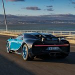 Bugatti Chiron rear three quarter in motion 07