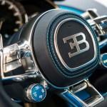 Bugatti Chiron steering wheel details