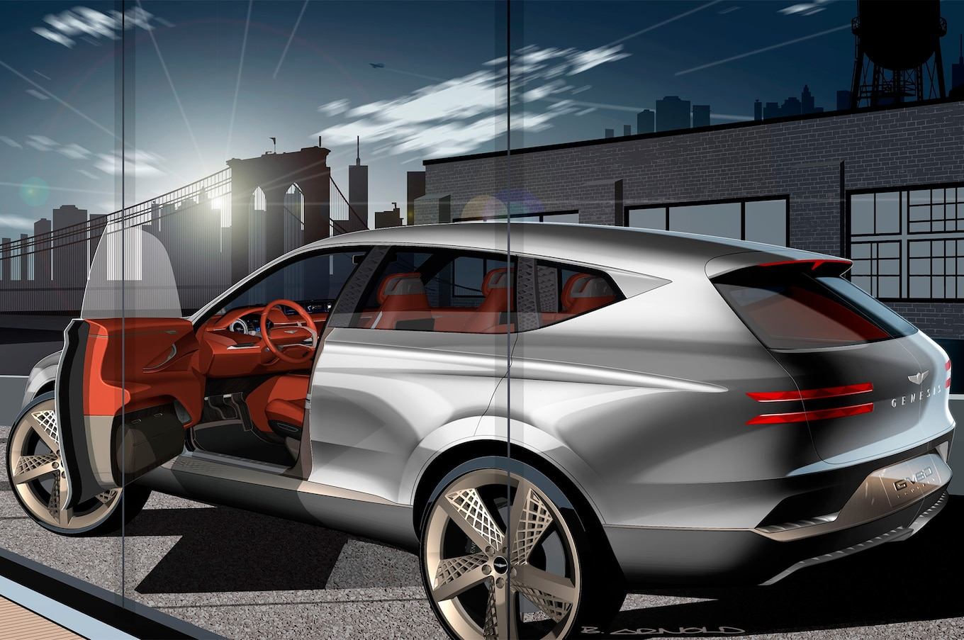 Genesis Luxury Brand Expands With GV80 SUV Concept Motor
