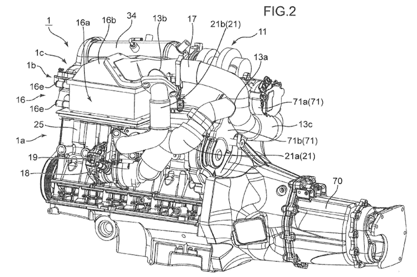 Mazda Patents Triple Charged Engine With Electric Supercharger
